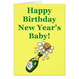 Der Geburtstags-Karte des neuen Jahres Karte