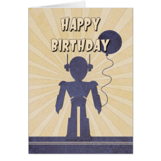 Der Geburtstags-Karte des Roboter-Jungen Karte