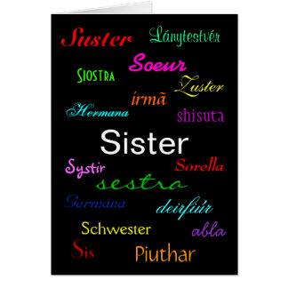 """Der Geburtstags-"""" Karte """"einer Schwester -"""