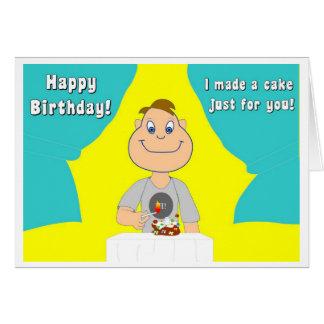 Der Geburtstags-Kuchen Grußkarte