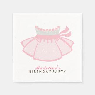 Der Geburtstags-Party des rosa Tutu-Mädchens Papierservietten