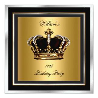 Der Geburtstags-Party-Krone der Männer elegante Quadratische 13,3 Cm Einladungskarte