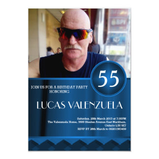 Der Geburtstags-Schlag-Einladungs-Schablone der Karte