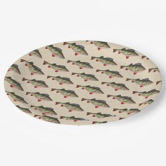 Der Geburtstags-Teller der Stangen-Fischen-Männer Pappteller