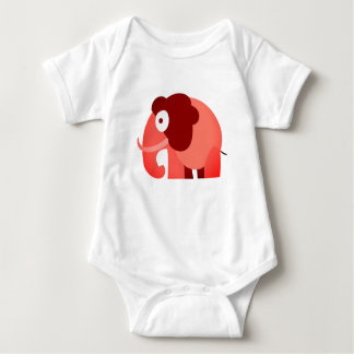 Der gedruckte Elefant kleiden Baby Strampler