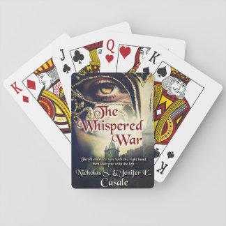 Der geflüsterte Krieg, der Plattform spielt Spielkarten