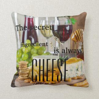Der Geheimnisbestandteil ist immer Käse-Sprichwort Kissen