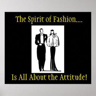 Der Geist des Mode-Plakats Poster