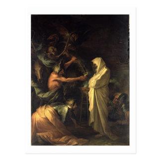 Der Geist von Samuel erscheinend zu Saul am hous Postkarte