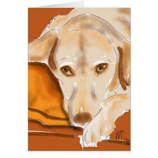 Der gelbe Labrador Karte