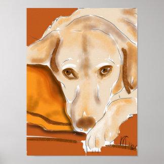 Der gelbe Labrador Poster
