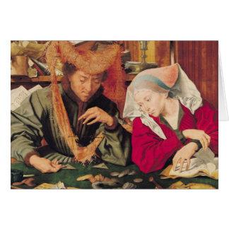 Der Geld-Wechsler und seine Ehefrau, 1539 Karte