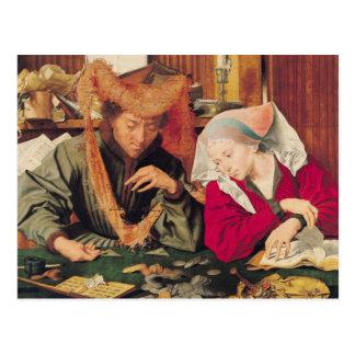 Der Geld-Wechsler und seine Ehefrau, 1539 Postkarte