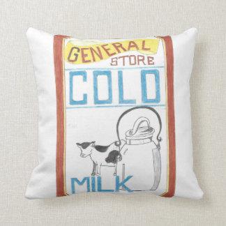 Der Gemischtwarenladen - kalte Milch - Kuh-Kissen Kissen