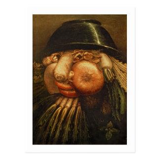 Der Gemüsegärtner, c.1590 (Öl auf Platte) Postkarte