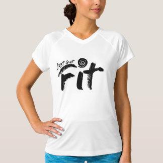 Der gerechten Frauen erhalten Sitz Staplungslogo T-Shirt