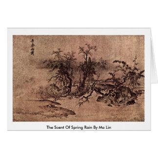 Der Geruch des Frühlingsregens durch MA Lin Karten