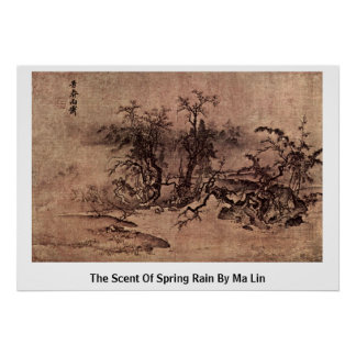 Der Geruch des Frühlingsregens durch MA Lin Poster