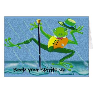 der Gesang im Regenfrosch behalten Ihren Geist Karte