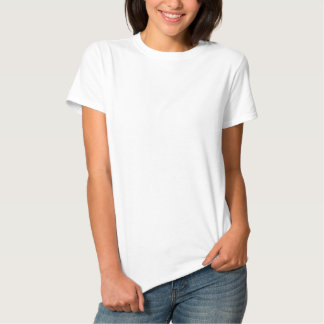 Der gestickte grundlegende T - Shirt der Frauen