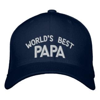 Der gestickte Hut der Welt bester Papa