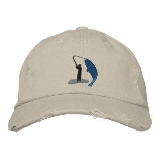 Der gestickte Hut des Angler-Fischers Fang