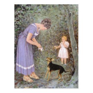 Der gierige kleine Hund durch Guido Marzulli, Postkarte