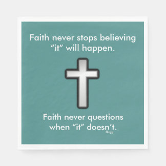 Der Glauben-Kontur-Kreuz nie Servietten-w/Black Servietten