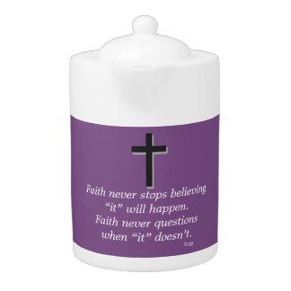 Der Glauben-Körper-Kreuz nie Teekanne-w/Black