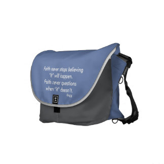 Der Glauben-Kreuz nie Bote-Taschen-w/Blue Kurier Tasche