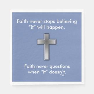 Der Glauben-Kreuz nie Servietten-w/Blue Servietten