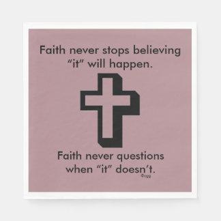 Der Glauben-Kreuz nie Servietten-w/Shadow Papierserviette