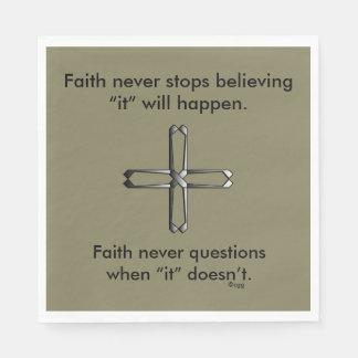 Der Glauben-Kreuz nie Servietten-w/Steel Papierserviette