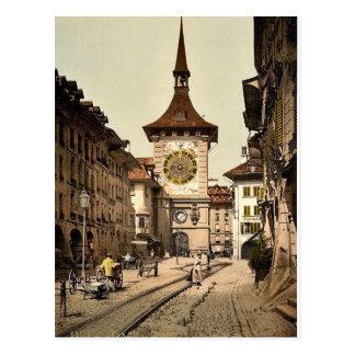 Der Glockenturm, Bern, Stadt, die Schweiz Vintag Postkarten