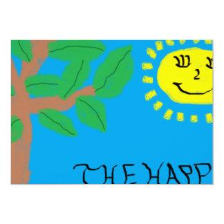 """""""Der glückliche Baum-"""" Einladungs-Karte 12,7 X 17,8 Cm Einladungskarte"""