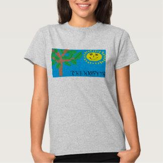 """""""Der glückliche Baum-"""" T - Shirt der Frauen"""