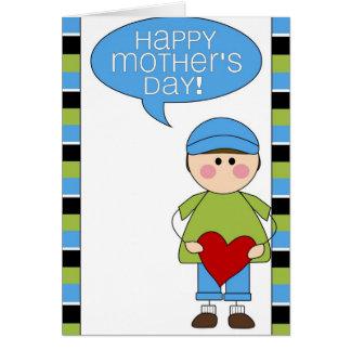 der glückliche Tag der Mutter (Junge) Grußkarte