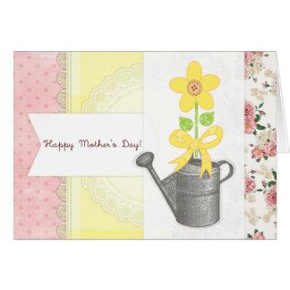 Der glückliche Tag der Mutter - Karte