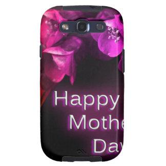 Der glückliche Tag der Mutter mit roten Blumen Etui Fürs Galaxy S3