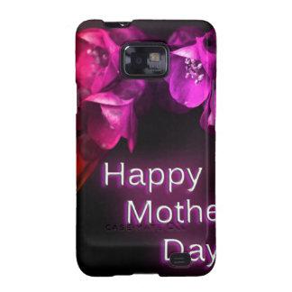Der glückliche Tag der Mutter mit roten Blumen Samsung Galaxy SII Case