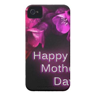 Der glückliche Tag der Mutter mit roten Blumen iPhone 4 Cover