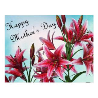 Der glückliche Tag der Mutter Postkarten