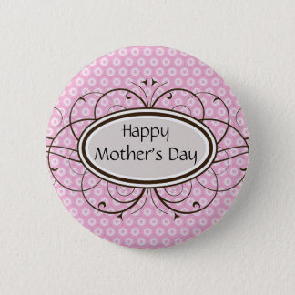 Der glückliche Tag der Mutter Runder Button 5,7 Cm