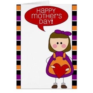 der glückliche Tag der Mutter (Tochter) Grußkarte