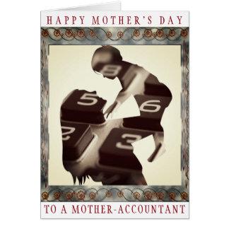 """""""Der glückliche Tag der Mutter zu einem Karte"""