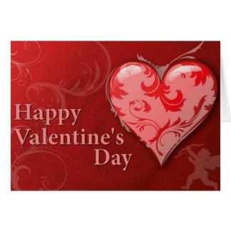 Der glückliche Tag des Valentines abstrakt Karte