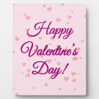 Der glückliche Tag des Valentines   rosa und lila Fotoplatte
