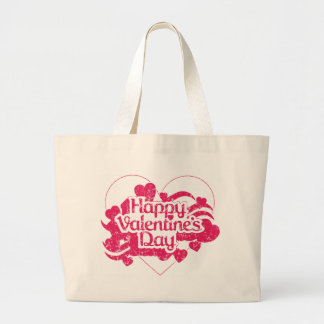 Der glückliche Tag des Valentines (Vintag) Jumbo Stoffbeutel