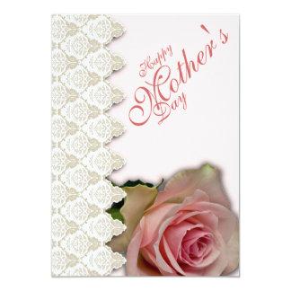 Der glückliche Tag u. das Rosa der Mutter mit 12,7 X 17,8 Cm Einladungskarte