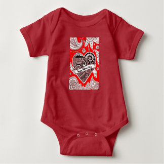 Der glückliche Vatertag 4 Baby Strampler